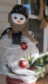 snowman from tomato cages