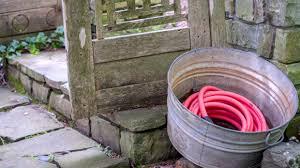garden hose storage pot. Use A Galvanized Tub To Store Garden Hoses. P. Allen Smith Water Colors Collection Hose Storage Pot