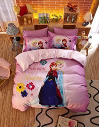 beautiful sisters elsa anna pink bedding set