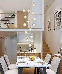 Kjlars Pendelleuchte Led Moderne Pendellampe Kristall Hängeleuchte Höheverstellbar Kronleuchter Geeignet Für Wohzimmer Esstisch Treppe Schlafzimmer