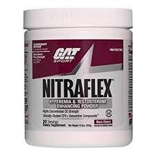gat clinically tested nitraflex testosterone enhancing pre workout black cherry 300 gram