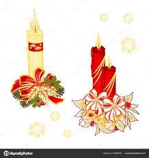 Weihnachten Kerzenlicht Mit Bögen Tannenzapfen Und