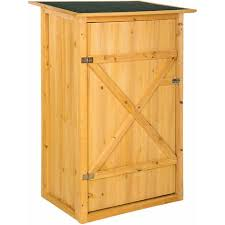 garden storage shed with a flat roof