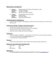 Interest And Hobbies For Resume Examples Section On Iitb Resume Exa