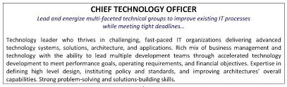 CIO's resume focus