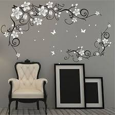 Small Picture Butterfly Vine Flower Vinyl Wall Art Stickers httpwwwebayco