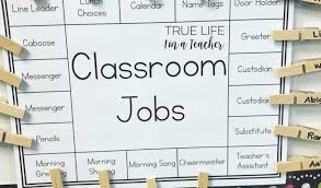 Classroom Job Chart Printable Best 37 Clever Classroom Helper Chart Free Printables Nayb
