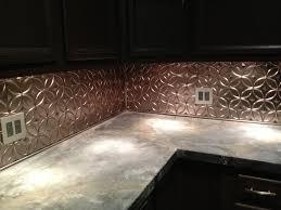 Diy Backsplash Diy Concrete Countertop And New Tin Backsplash Its Finally Done