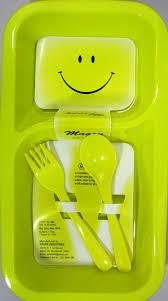 maggi yellow plates with spoon fork birthday return gifts craftsvilla