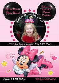minnie mouse invitation add minnie ears pink minnie mouse invite