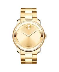 movado movado bold mesh yellow gold plated watch movado us movado movado bold3600258 42 5 mm metals bracelet watch front view