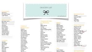 Grocery Shopping List Organizer Grocery Shopping List Organizer 8 Night Club Nyc Guide