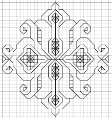 Free Blackwork Embroidery Charts Imaginesque Blackwork Embroidery Small Motif Pattern