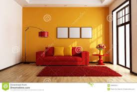 Red And Orange Living Room Stock Images Image: 28662354