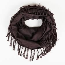 Details About Brunello Cucinelli Brown Cashmere Silk Infinity Scarf