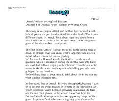 comparison of attack written by seigfried sassoon and anthem  document image preview