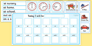 Routine Chart Pack With Place Time And Person Routine