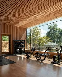 Gymnasium Exterior Design Invisible Studio Designs Hotel Gym Overlooking Productive Garden