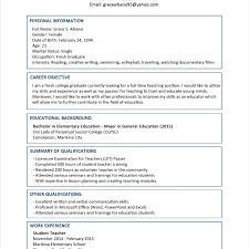 Adorable Resume For Mechanical Engineer Fresh Graduate In Fresh With