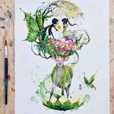 gorgeous watercolor paintings ideas gorgeous watercolor paintings by luqman reza mulyono