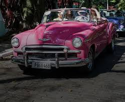 image of pink cadillac in cuba