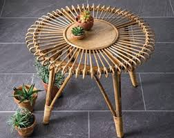 Discover side tables, nightstands and more here. Rattan Coffee Table Etsy