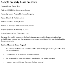 Lease Proposal Letter Interesting Property Lease Proposal Template