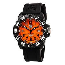 luminox 3059 set men s scott cassell orange dial dive watch set men s scott cassell orange dial dive watch interchangeable strap set