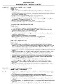 Public Relations Manager Resume Samples Velvet Jobs
