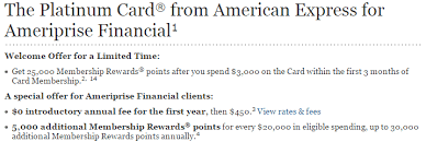 Check spelling or type a new query. American Express Platinum 25 000 Points No Annual Fee Offer Is Back Ameriprise Doctor Of Credit