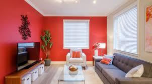 modern bold red living room wall j stevens painting