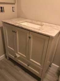 bathroom vanity not flush against wall ideas