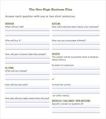 how to make a business plan free one page business plan template free business plan samples mktg