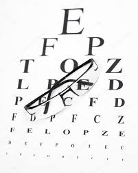 Reading Glasses With Eye Chart Stock Photo Ivanko1980