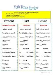 Revision of verb tenses Present, Past, and Future | A | Pinterest ...