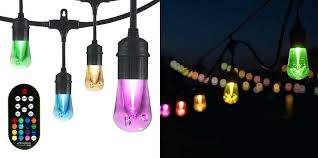 led warm white color changing outdoor string lights colored coloured garden best