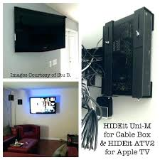 tv and cable box wall mount cable box wall mount behind hide cable box hide the