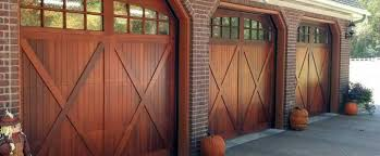 garage doors.  Garage Wooden Garage Doors Installed By Great Door In A