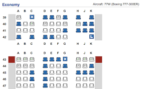 seatmap for cathay pacific s 777 with 10 seats per row