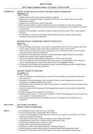 Resume With Internship Experience Examples Graphic Design Internship Resume Samples Velvet Jobs