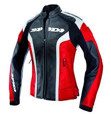 spidi rr lady women leather jacket black red clothing jackets spidi pizza spidi