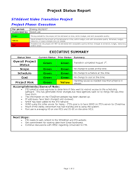 Best Photos Of Project Status Report Examples - Project Status ...