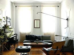 modern curtain rods. Modern Curtain Rods Living Room Contemporary With Black Armchair Ottoman Piano S