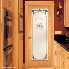 dress up your pantry with a cool feather river etched glass door custom