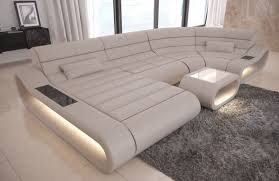 Luxury Sectional Sofa Concept U Shape Design Couch Big Led