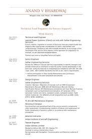 Technical Lead Engineer Resume samples