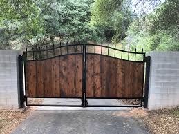 wrought iron privacy fence. Interesting Wrought Wood And Wrought Iron Driveway Gate El Dorado County In Gates Decorations 12 On Privacy Fence