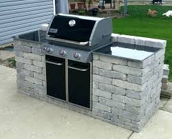 built in patio grill outdoor