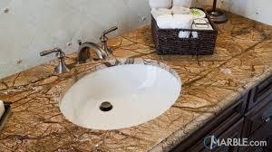 marble bathroom sink. Rain Forest Brown Marble Bathroom Countertop Sink