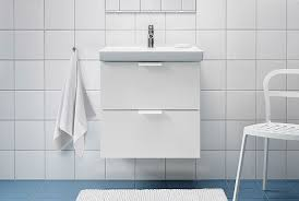 Ikea lighting bathroom Led Ikea Godmorgon Bathroom Vanity With Two Drawers In White With An Odensvik White Sink Ecollageinfo Bathroom Vanities Countertops Ikea